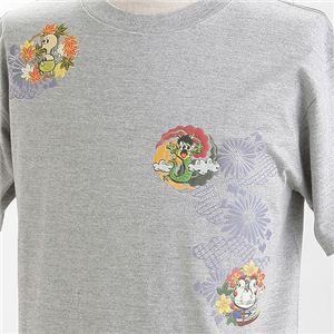むかしむかし×マカロニほうれん荘 Tシャツ S-2670 【トシちゃん拳法】 M グレー