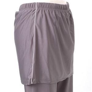 ビリーよりヨガパンツ♪オーバースカート付ヨガパンツ2枚セット ブラック&グレー M