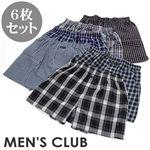 MEN'S CLUB 先染チェック柄トランクス 6枚セット L
