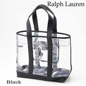 Ralph Lauren(ラルフローレン)クリアトートバッグ 498TTE WHITE BLACK