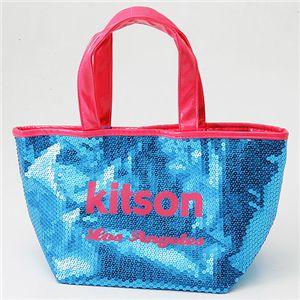 KITSON(キットソン) スパンコール ミニ トートバッグ 3558 アクア/ピンク
