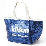 KITSON(キットソン) スパンコール ミニ トートバッグ 3559 ネイビー/ホワイト