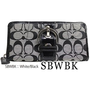 COACH(コーチ) 長財布 F45575 SBWBK・White/Black
