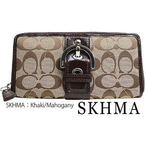 COACH(コーチ) 長財布 F45575 SKHMA・Khaki/Mahogany