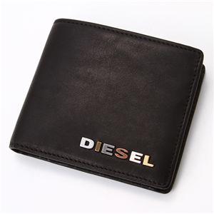DIESEL(ディーゼル) レザー折財布 Black