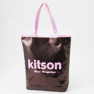 KITSON(キットソン) スパンコール トートバッグ 003602・Copper×Pink