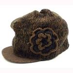 キャスケット帽子 ブラウン