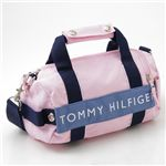 TOMMY HILFIGER(トミーフィルフィガー) マイクロミニダッフルバッグ MICRO MINI DUFFLE L200150-661・Pink×Slate Blue
