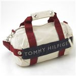 TOMMY HILFIGER(トミーフィルフィガー) マイクロミニダッフルバッグ MICRO MINI DUFFLE L200154-104・Natural×Navy