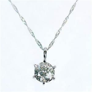 プラチナ900(PT)1.3ct一粒ダイヤモンドネックレス(ペンダント)181363 42cm