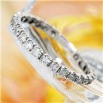 【訳あり・在庫処分】K18WG(18金ホワイトゴールド)ダイヤリング エタニティリング(指輪)計0.5ct 125401 15号