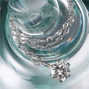 純プラチナPT1000/0.2ctダイヤモンドペンダント