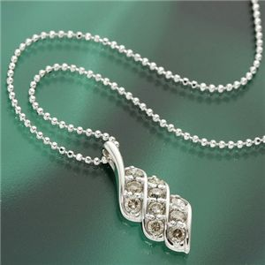 0.5ct大粒10石ダイヤモンドペンダント