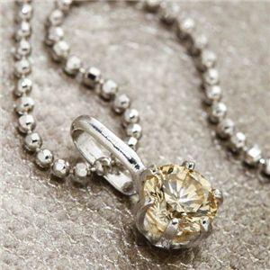 K18WG 0.3ctライトブラウンダイヤモンド一粒ネックレス(18金ホワイトゴールド)156586 42cm