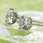 PT900 計0.5ct大粒ダイヤモンド一粒ピアス(プラチナ)144908