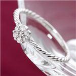 K18WGダイヤリング 指輪 15号