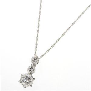 K18ホワイトゴールド0.7ct ダイヤモンドキャッスルペンダント ネックレス