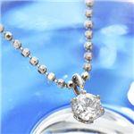K18ホワイトゴールド0.1ct ダイヤモンドペンダント ネックレス