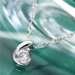 18金ホワイトゴールド(K18WG) ダイヤムーンペンダント ネックレス