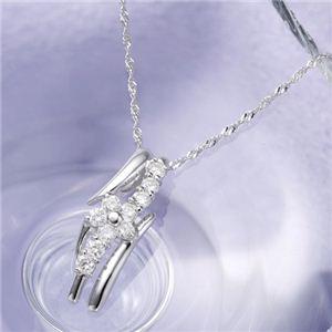 18金ホワイトゴールド(K18WG) スウィート 10ダイヤモンドペンダント ネックレス