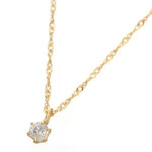 K18ダイヤモンド0.1ctペンダント ネックレス イエローゴールド
