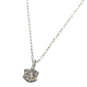K18ホワイトゴールド 0.1ctダイヤモンドペンダント ネックレス