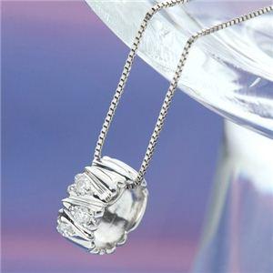 K10ホワイトゴールド ダイヤモンドリングペンダント ネックレス