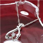 Pt900 プラチナ ダイヤモンド0.03ct ペンダント ネックレス