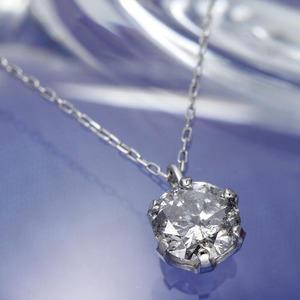 純PT0.5ct ダイヤモンドペンダント ネックレス
