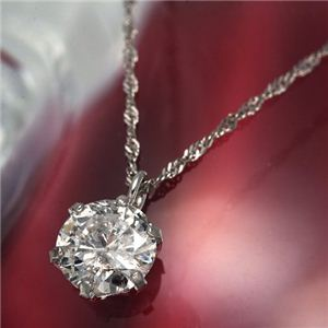 純PT0.6ctダイヤモンドペンダント プレゼントダイヤネックレスつき 鑑定つき 229226