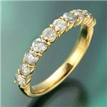 K18YG(イエローゴールド) ダイヤモンド1.0ctエタニティリング 21号