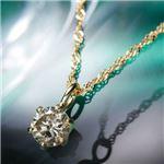 【訳あり・在庫処分】K18YGブラウンダイヤモンドペンダント/ネックレス