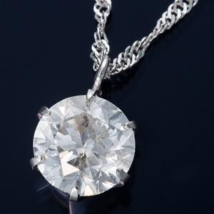 K18WG 1ctダイヤモンドペンダント/ネックレス スクリューチェーン