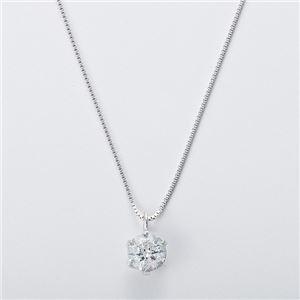 K18WG 0.3ctダイヤモンドペンダント/ネックレス ベネチアンチェーン