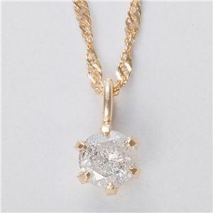 K18 0.1ctダイヤモンドペンダント/ネックレス スクリューチェーン