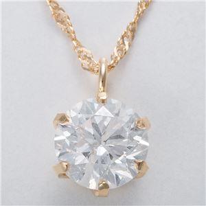 K18 0.5ctダイヤモンドペンダント/ネックレス スクリューチェーン
