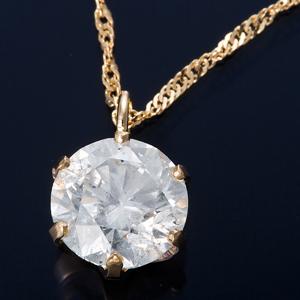 K18 0.7ctダイヤモンドペンダント/ネックレス スクリューチェーン