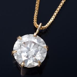 K18 1ctダイヤモンドペンダント/ネックレス ベネチアンチェーン