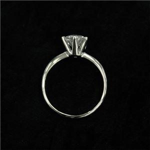 プラチナPt900 1.0ct一粒ダイヤリング 指輪 (鑑別書付き)  11号