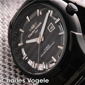 Charles Vogele ブラックスケルトン CV-8027-3