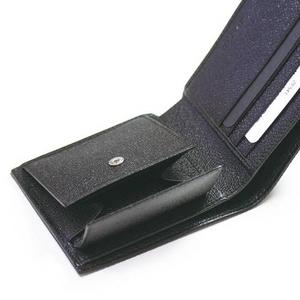 BVLGARI(ブルガリ)ミレリゲ 二つ折り小銭入れ付きサイフ25541 ブラック