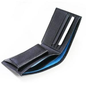 BVLGARI(ブルガリ) グレインレザー 二つ折り財布小銭入れ付き 30396 ブラック