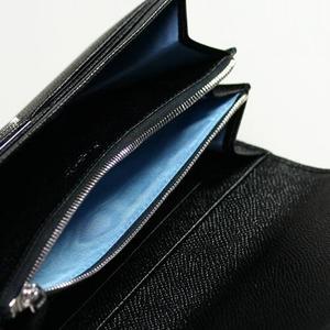 【12月17日まで期間限定特価】BVLGARI(ブルガリ)ロゴクリップ長財布 小銭入れ付き 30414 ブラック