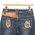 超ラブリーなミッキーアイテム♪Mickey&Minnie デザインデニムパンツ ネイビー M