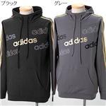 【日本未発売】adidas ゴールドプリントパーカー 342981 グレー M