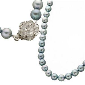 あこや真珠6-6.5mmシルバーブルー3点セット イヤリングセット