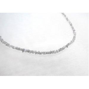 ホワイトダイヤ15ctラフクリスタル ラウンドネックレス