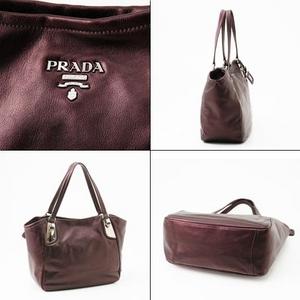 PRADA(プラダ) トートバッグ BR3976 VITELLINO MORDORE B  MERO