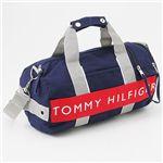 TOMMY HILFIGER(トミーフィルフィガー) ミニボストンバッグ L500079 MINI DUFFLE ハーバーポイント2 Navy×Red