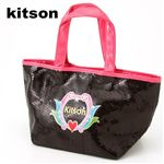 KITSON(キットソン) Sequin Mini Tote ブラック×ピンク